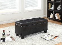 7075 Black Storage Bench
