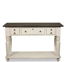 Juniper Console Table Chalk/Charcoal finish