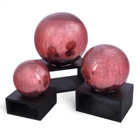 Crackle Rose Balls (Set of 3)