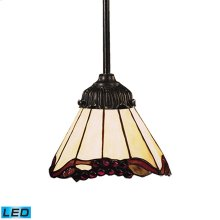 Mix-N-Match 1-Light Pendant in Tiffany Bronze - LED Offering Up To 800 Lumens (60 Watt Equivalent) W