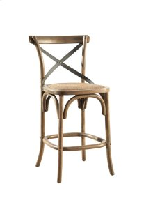 Bentwood Counter Stool w/ Metal Back