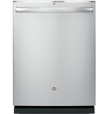 GE® Stainless Steel Interior Dishwasher with Hidden Controls-Third Rack