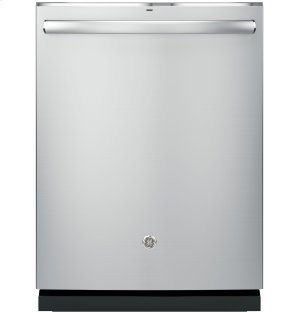 GE® Stainless Steel Interior Dishwasher with Hidden Controls Product Image