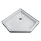 White Neo-Angle Shower Base Product Image