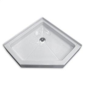 White Neo-Angle Shower Base