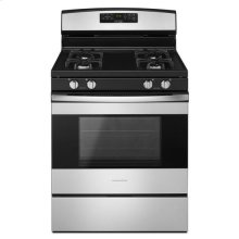 Amana® 30-inch Gas Range with Bake Assist Temps - Black-on-Stainless