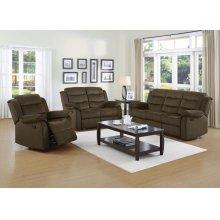 Rodman Chocolate Reclining Two-piece Living Room Set