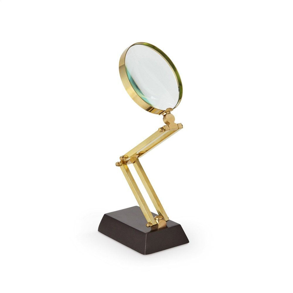 Anders Articulating Magnifying Glass, Brass