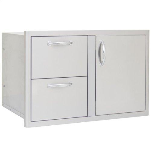 Blaze 32 Inch Access Door & Double Drawer Combo
