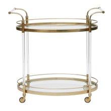 Gold & Acrylic Bar Cart