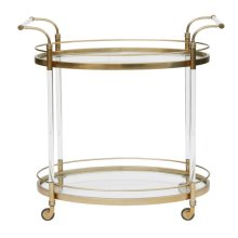 Gold & Acrylic Bar Cart
