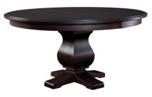 "60"" Solid Top**6/4 Thick Top** Pedestal Table"