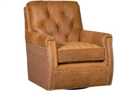 Wyatt Leather/Fabric Swivel Chair, Wyatt Leather/Fabric Ottoman