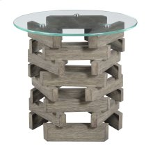 Emerald Home Jenga End Table Driftwood T833-01-k