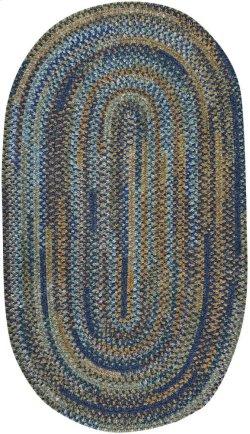 New Homestead Fountain Blue Braided Rugs