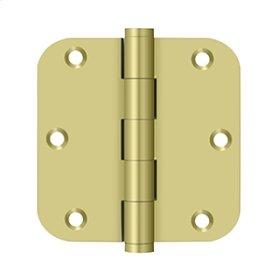 "3 1/2""x 3 1/2""x 5/8"" Radius Hinges - Polished Brass"