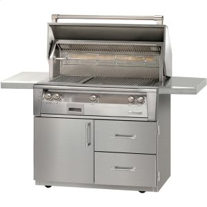"""Alfresco42"""" Sear Zone Grill with Deluxe Cart"""