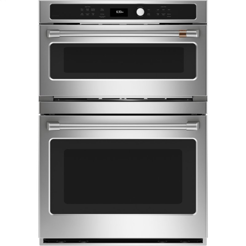 Caf(eback) 30 in. Combination Double Wall Oven with Convection and Advantium (R) Technology