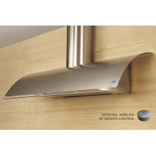 """48"""" Cheng Design Okeanito Wall Hood with LED Lighting - Stainless Steel"""