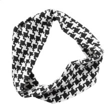 Black & White Houndstooth Stretch Headband.