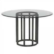 Armen Living Denis Contemporary Round Metal Dining Table Product Image