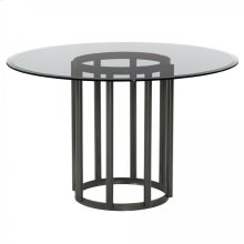 Armen Living Denis Contemporary Round Metal Dining Table