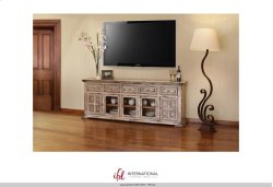 "83"" TV Stand w/3 glass doors, 2 wooden doors & 5 drawers Product Image"