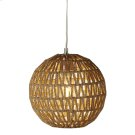 Round Jute Wrapped Chevron Pendant. 40W Max. Plug-in with Hard Wire Kit Included. Product Image