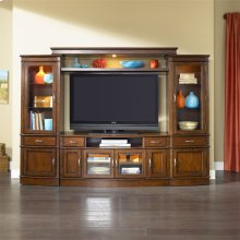 222  Entertainment Center with Piers