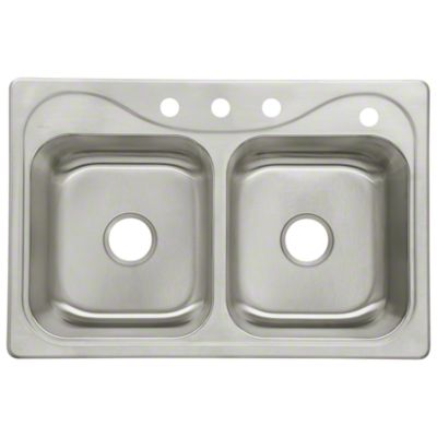 """Southhaven® Double Basin Sink, 33"""" x 22"""" x 8-1/2"""""""