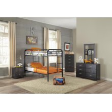Black Twin/Twin Bunkbed