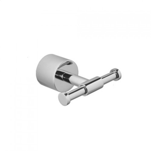 Unlacquered Brass - Contempo II Double Robe Hook