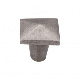 Aspen Square Knob 1 1/4 Inch - Silicon Bronze Light