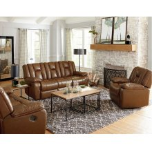 Manual Leather Glider Recliner