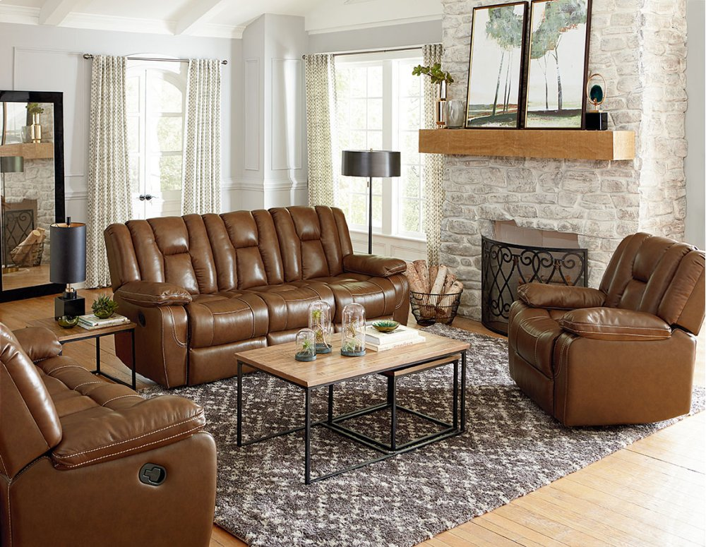 Delicieux Manual Leather Glider Recliner