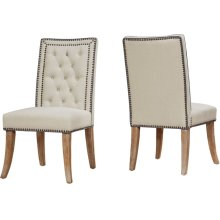 Garrett Beige Linen Dining Chair - Set of 2