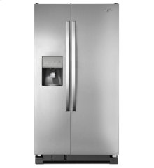 Scratch Out Unit On Bargain Center 36-inch Wide Large Side-by-side Refrigerator With Greater Capacity and Temperature Control - 25 Cu. Ft.