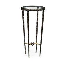 Bronze Finish Hammered Iron Circular Wine Table