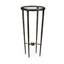 Bronze Finish Hammered Iron Circular Wine Table