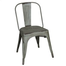 Bow Back Side Chair - Green