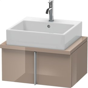 Vero Vanity Unit For Console Compact, Cappuccino High Gloss Lacquer