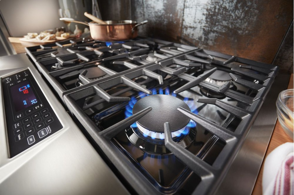 Genial Kitchenaid Limited Edition Kitchenaidu0026reg; 36u0027u0027 6 Burner Dual Fuel  Freestanding Range, Commercial Style   Misty Blue