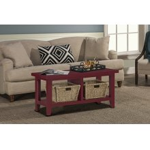 Tuscan Retreat® Blanket Bench - Antique Red