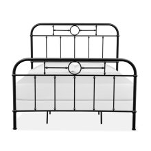 Complete Queen Metal Bed - Black