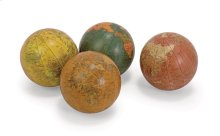 "Antique Finish Globe 4"" Spheres - Set of 4"