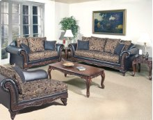 Silas Ebony Sofa and Loveseat