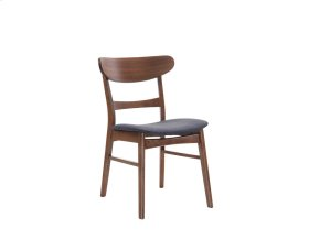 Side Chair Wood Back W/uph Blue Seat Set Up
