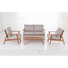 Kate Karri Gum FSC KD Deep Seating Lounge Chair w/ Sunbrella Cast Ash cush.