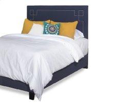 Queen Upholstered Complete Bed - Cobalt Blue Finish