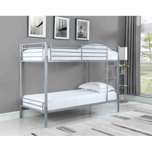 Boltzero Contemporary Silver Twin Bunk Bed